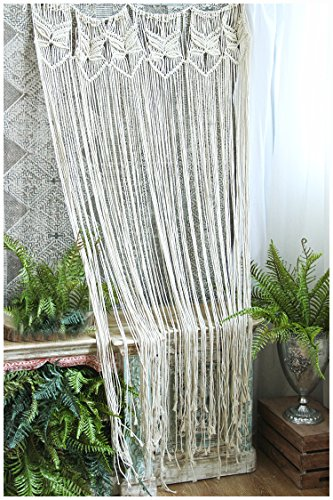 """HiPlus Butterfly Macrame Wall Hanging Tapestry- Macrame Curtains for Door,Window,Closet,Room Divider Wedding Backdrop Boho Home Wall Decor, 33"""" W x 70"""" L"""