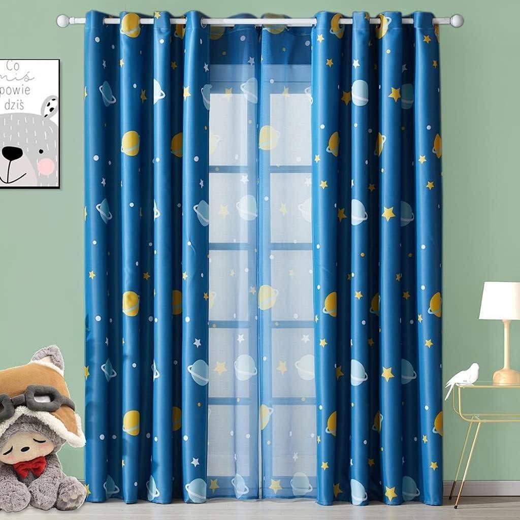 [Alternative dealer] AHYMZ Children's Blackout Curtains-Buttonhole Curtains for Cheap mail order sales Child