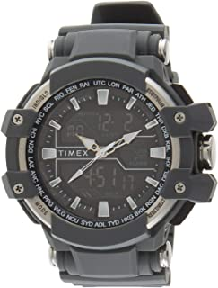 Timex Men's Black Dial Resin Band Watch - TW5M22600
