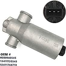 HZTWFC 0280140545 13411738545 13411744713 Idle Air Control Valve Motor IAC Valve Compatible for Saab 9-3 BMW E34 E36 E38 E39 E46 E53 E60 E61 E65 E66 E83 E85 X3 Z3 Z4 320 323 325 328 330