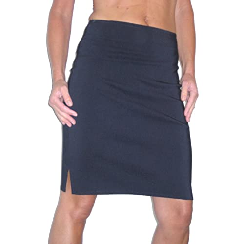 025bb4b320 icecoolfashion Womens Pencil Skirt Stretch Bodycon Girls School Work Office