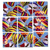 Scramble Squares Hot Air Balloons 9 Piece Challenging Puzzle - Ultimate Brain Teaser and Mind Game for Young and Senior Alike - Engaging and Creative With Beautiful Artwork - By B.Dazzle