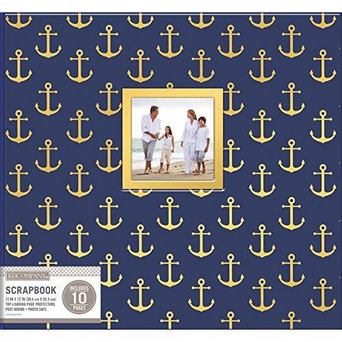 "K&Company Patterned Post Bound Window Album 12""X12""-Nautical"