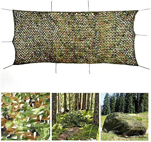 HTTWZW Army Camouflage Net Camo Net Sun Shade Netting for Hunting Hide Shooting Hide Camping Shelters Awnings Tents Cover Green Multi-size Optional W8Z8W8 (Size : 6x8m)