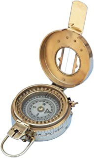 "Hampton Nautical Solid Brass Engineers Compass, 5"""
