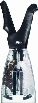 Chef'n 85320 Dual Grinder Salt and Pepper Grinder, Black/Clear
