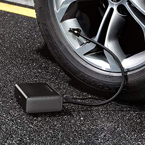 Ymhan Smart Car 12V Bomba de inflado de neumáticos compresor de Aire del neumático de Coche portátil neumático de Coche inflador (Color Name : Black)