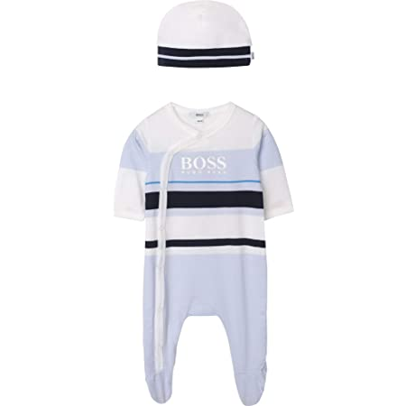 Ensemble pyjama + bonnet coton BOSS BEBE COUCHE CIEL 12MOIS