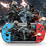 wohuole Handheld Portable Game Console,Mini Retro Player Built-in Classic Games 4.3 Inch 8G Built-in Free 10000 Games+LCD Screen MP3 MP4 MP5 Function,Present for Kids and Adult (Blue)