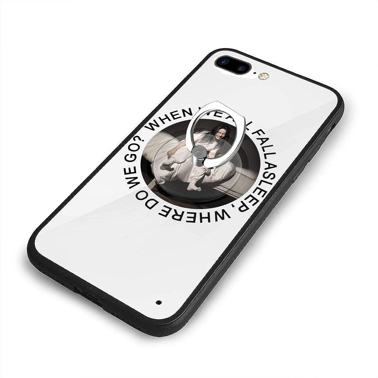 スプリット顕現偽物Billie Eilish ビリー?アイリッシュ 欧米風 iPhone 7/8 Plusケースリングブラケット 携帯カバー 創意デザイン軽量 傷つけ防止 360°回転ブラケット 携帯ケース PC 衝撃防止 全面保護