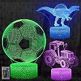 3D Illusion Lampe, mixigoo 3D LED Nachtlicht mit Fernbedienung und 16 Farbwechsel Berührungsschalter Schreibtischlampe Optische Täuschung Lampe Tischlampe Deko Licht für Kinder Weihnachten Geschenk