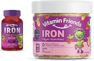 Vitamin Friends Iron Multivitamin for Kids - Vegan (60 Day Supply) Ferrous Fumarate with B-Complex, Vitamin C, Zinc, Bioti...