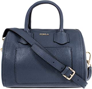 Furla Alba Ladies Small Gray Ardesia Leather Satchel 984382