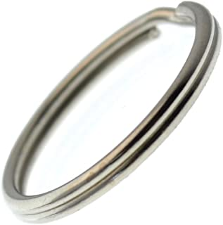 100 Pack - EXTRA LARGE Key Rings - 1.25 Inch Heat Treated & Lead Free - Heavy Duty Sturdy Metal Split Ring Keychains by Specialist ID
