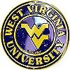 Tromic West Virginia Mountaineers Metal Round Circle Sign Made in USA [並行輸入品]