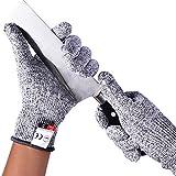 HYCKee Lot de 2 gants résistants aux coupures de niveau 5 de protection alimentaire pour la coupe de viande et la sculpture sur bois