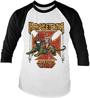 Masters of the Universe Baseball Shirt Hero of Eternia Official Mens Long Sleeve