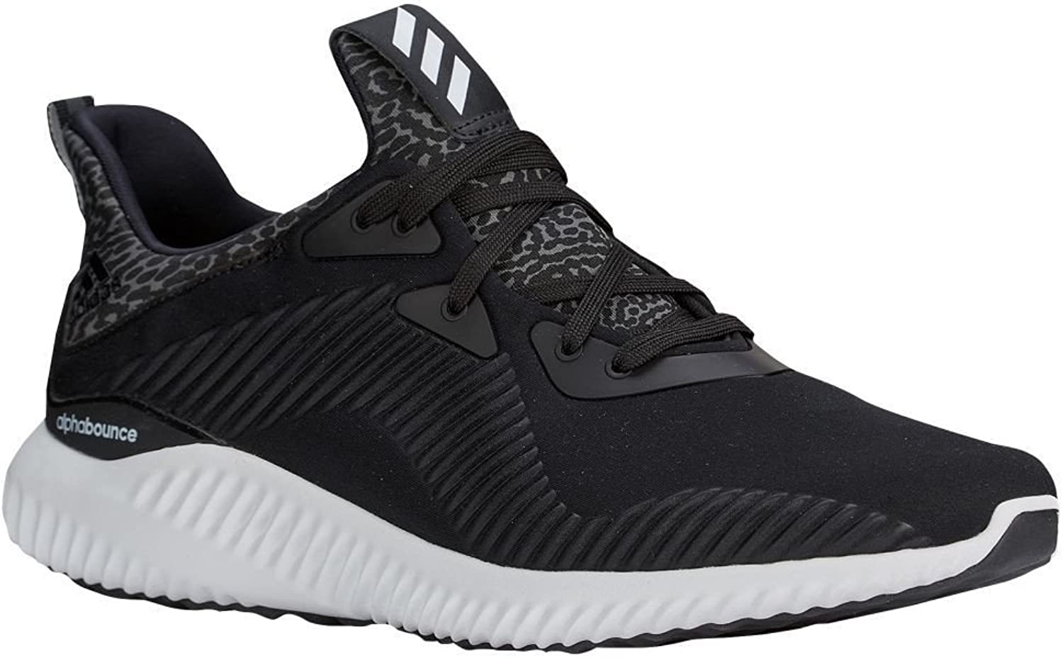 Adidas Men's Alphabounce Running shoes Black White Size 12.5 M US