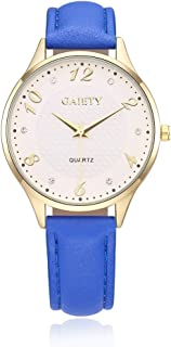 naivo Women's Quartz Watch with Gold Plated Stainless Steel Strap, Blue (Model