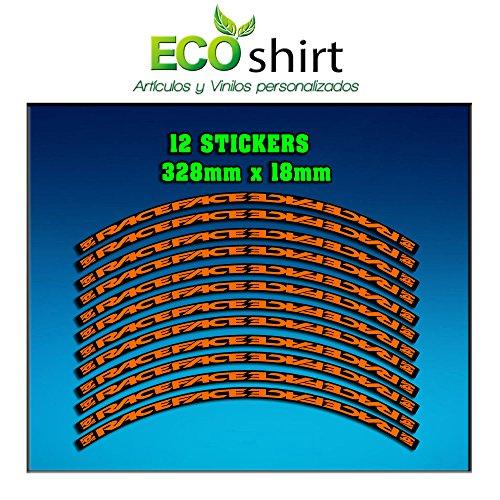 Ecoshirt J1-X5BX-W43E - Adesivi per cerchione Rim Raceface 29' Am51 Bike MTB Downhill