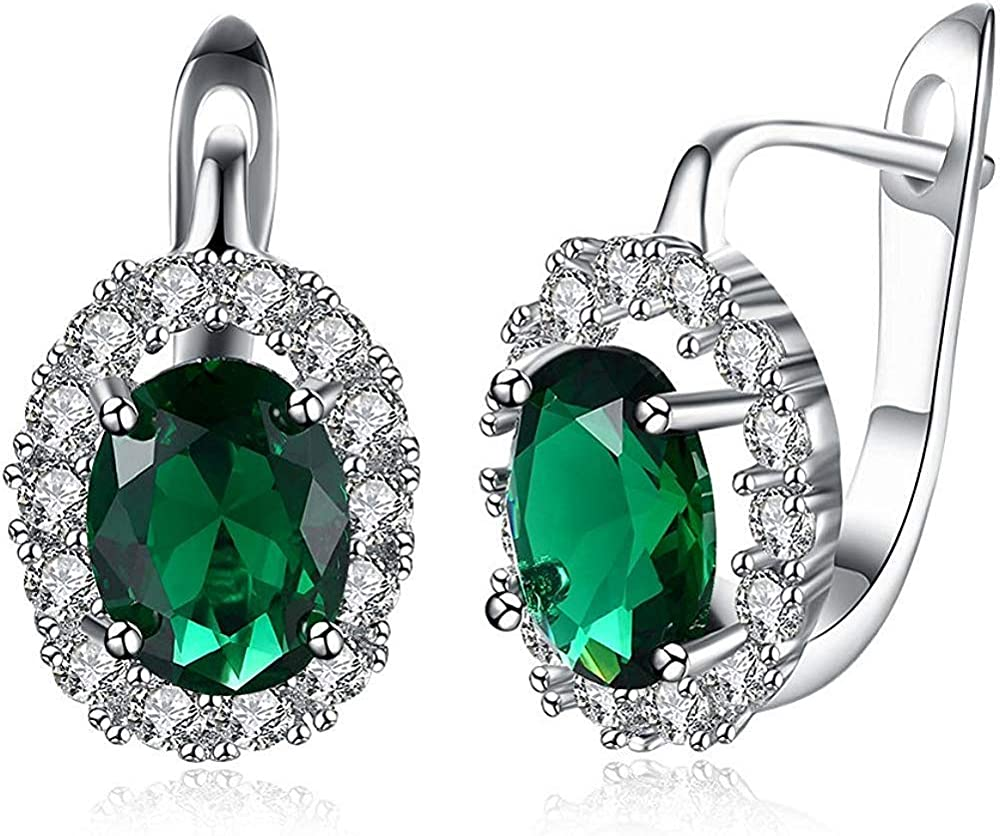 Kia-Mia Crystals from Swarovski Stylish Clip On Studs Earrings for Women and Girls Party Wear Fashion Jewellery