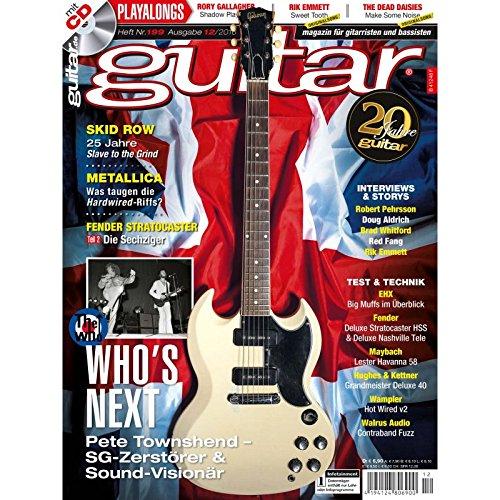 Guitar 12 2016 mit CD - Who`s Next Pete Townshend - Interviews - Workshops - Gitarre Playalongs - Gitarre Test und Technik