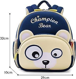 New Green Dinosaur School Bags for Boys Girls Kindergarten Children School Backpacks Cute Animals Book Bags Zhaozb (Color : Bear)