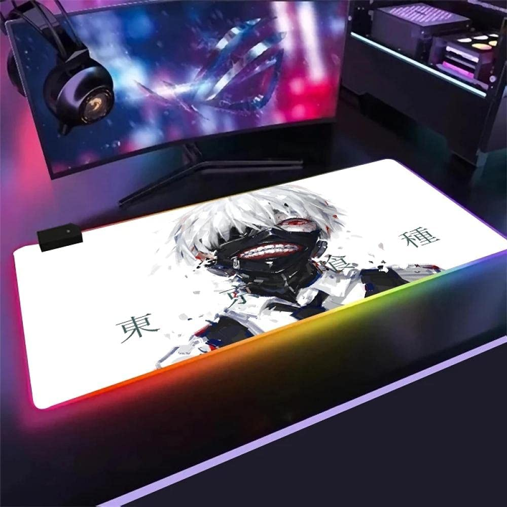 Fort Worth Mall Mouse Pads Anime 2021new shipping free Tokyo Ghoul RGB Backg Pad White and Black