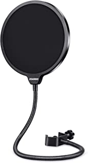 Aokeo Professional Microphone Pop Filter Mask Shield For Blue Yeti and Any Other..