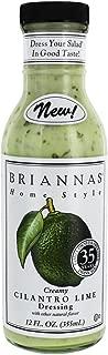 Briannas Creamy Cilantro Lime Dressing 12 oz (Pack of 2)