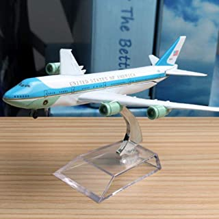 NKJWHB 16cm 1:300 USA Airlines Boeing 747-200 Airbus Plane Model United State Alloy Model Aviation Aircraft Airplane Model Stand Craft