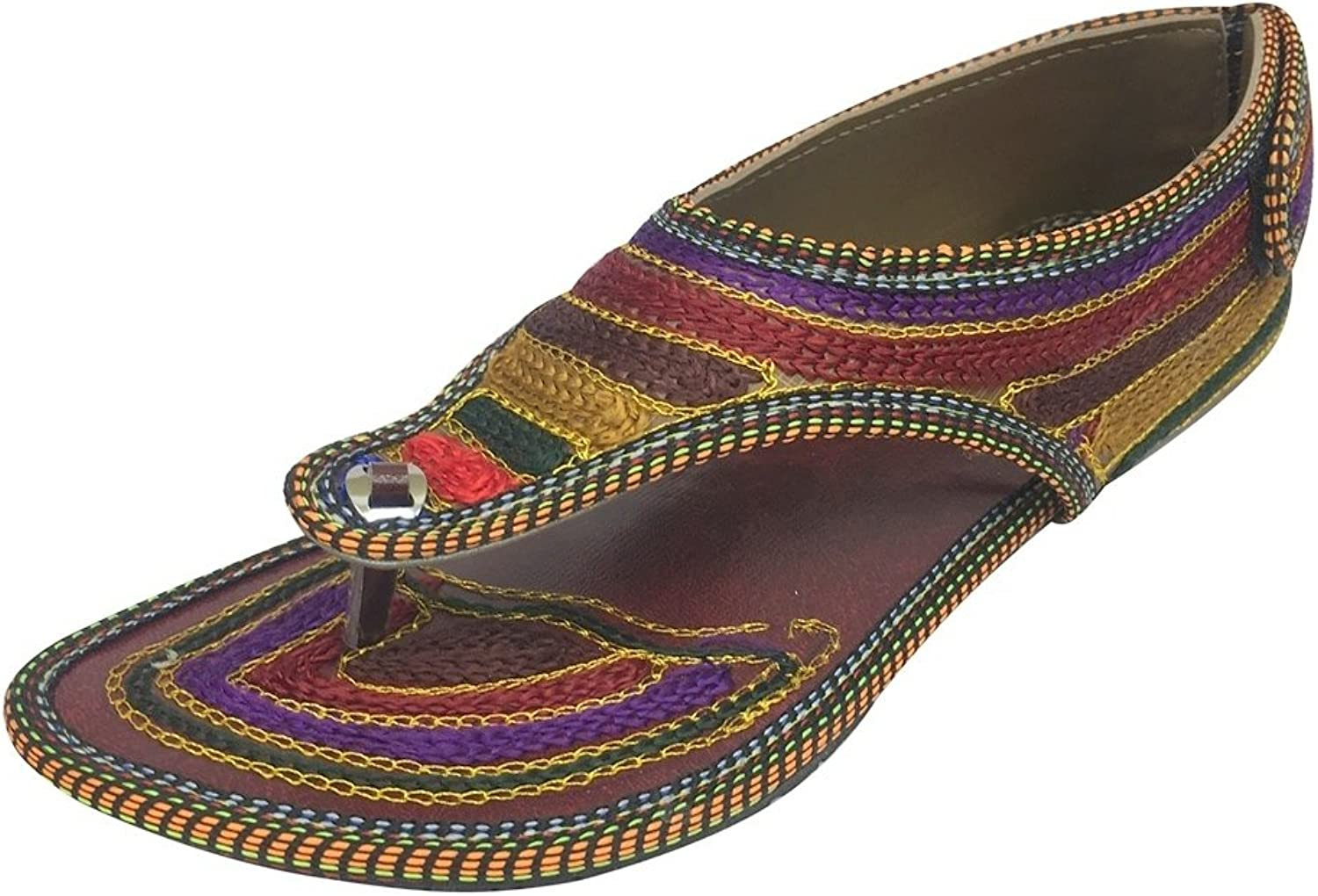 Step n Style Flat Traditional Sandals Handmade Sandals Indian Ethnic Sandals Juttis