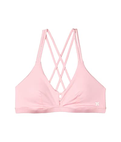 Hurley Max Scoop Surf Bikini Top (Pink) Women
