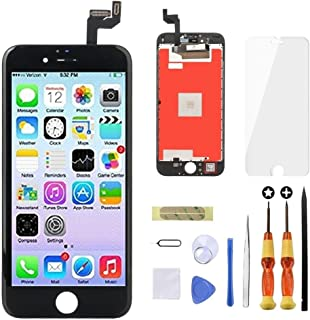 Goldwangwang Screen Replacement for iPhone 6S 4.7inch 3D Touch LCD Screen Digitizer Replacement Display Assembly Set with Repair Tool kit + Tempered Glass Screen Protector + Instruction Black