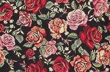 Raumausstatter.de Möbelstoff TIZIAN 502 Blumenmuster rot