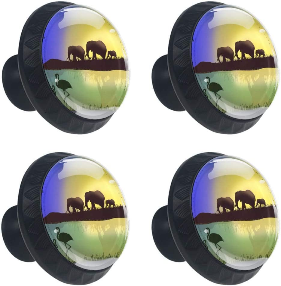 TIKISMILE African Wildlife We OFFer at Inexpensive cheap prices Drawer Knob Pull Handle Crystal Glass