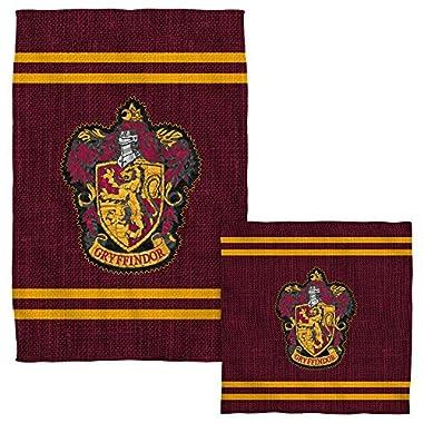 Gryffindor Stitch Crest -- Harry Potter -- Face & Hand Towel Set