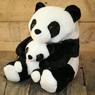 Carousel Home - Tope para puerta, diseño de oso panda con hijo, color blanco y negro