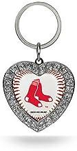 MLB Rhinestone Heart Keychain