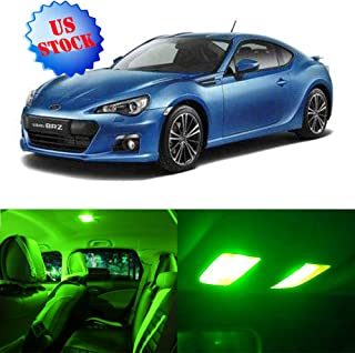 Interior LED Lights Green Replacement for 2013-2017 Subaru BRZ Accessories Package Kit 11Pcs