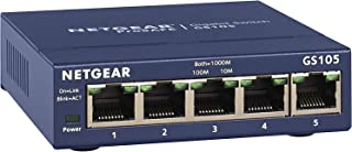 NETGEAR 5-poorts Gigabit Ethernet Unmanaged Switch (GS105NA) - Desktop- of wandmontage en beperkte levenslange bescherming