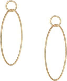 Large Ring in Small Ring Hoop Earrings