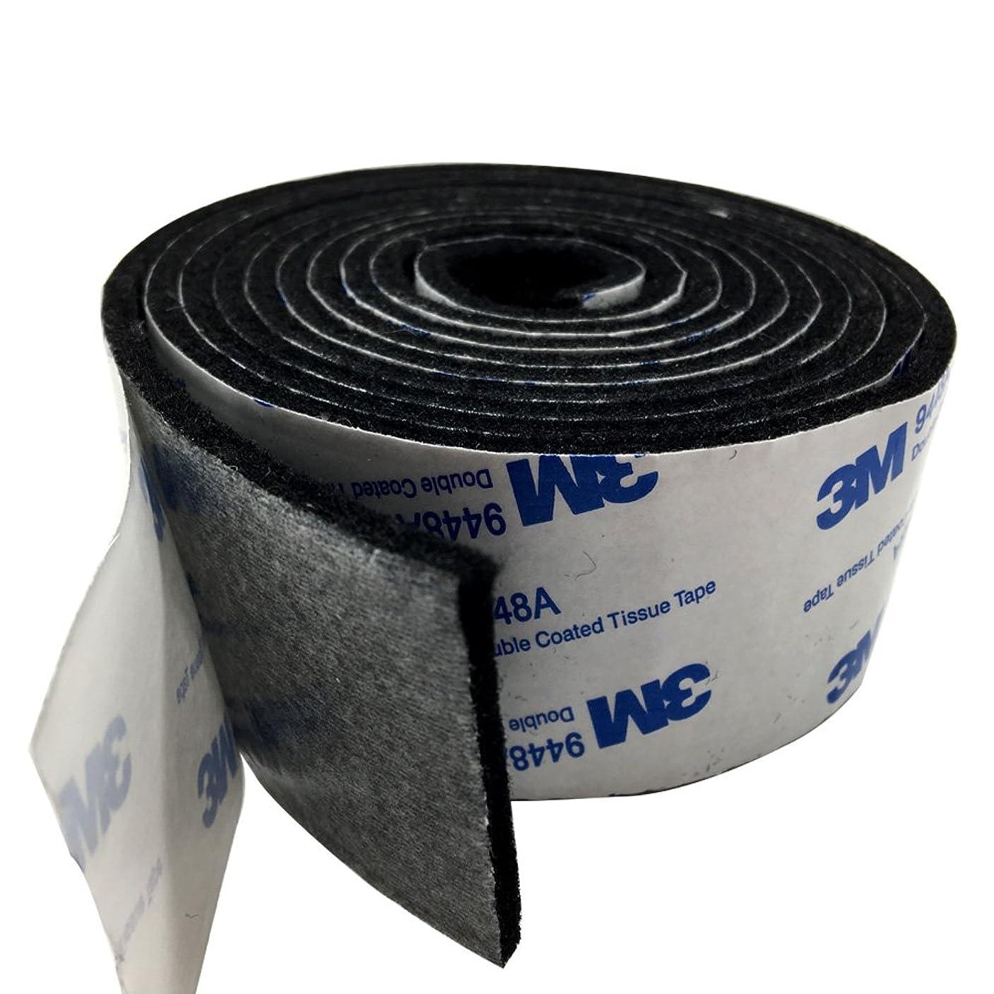 敵意フットボール教養があるTetedeer 床のキズ防止テープ 自由にカットして使用可 幅4cm 長200cm (ブラック)