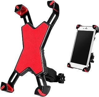 Adaskala Suporte de telefone para bicicleta com rotação de 360°, suporte de telefone para motocicleta e mountain bike