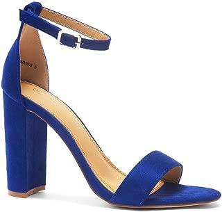 Best royal blue chunky heels Reviews