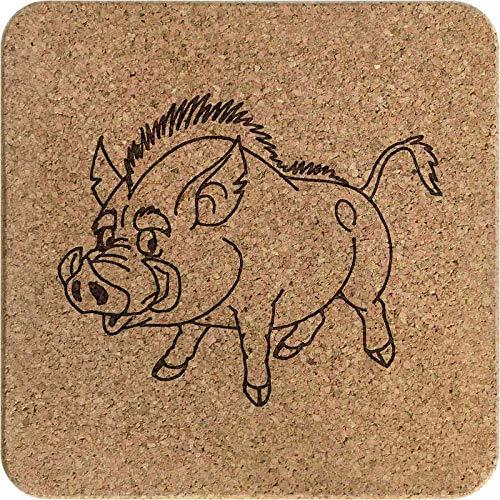 Azeeda 'Wildschwein' Kork Topfuntersetzer (TR00005198)