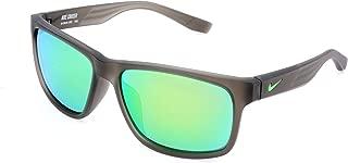 Nike Golf Cruiser R Sunglasses, Matte Crystal Deep Pewter/Green Pulse Frame, Grey with Ml Green Flash Lens