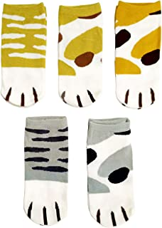 e5b5270ee251 Casual Cotton Socks Animal Style Ankle Height Socks for Women Girls 5 Pairs
