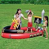 Barco Pirata Piscina Infantil,Hinchable Centro De Juegos para Niños Piscina para Niños,Juegos De Agua Piscina Familiar para Niños Pequeños Niños A 190x140cm(75x55inch)