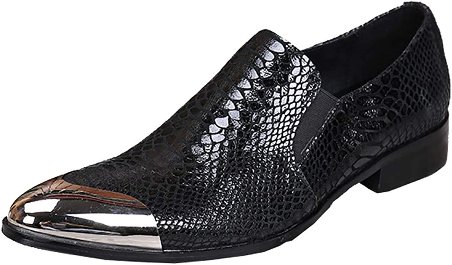 Men's Leather shoes Business Casual shoes Pointed Crocodile Pattern Large Size